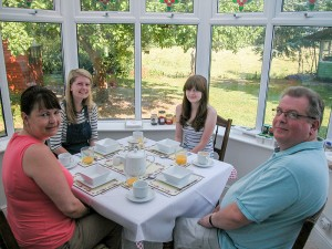 Breakfast for the Family overlooking the Norfolk countryside.